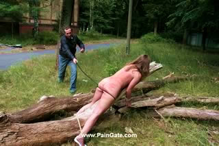 THE RAPE - A VERY SADISTIC OUTDOOR DOUBLE BULLWHIPPING OF SWEET SONJA